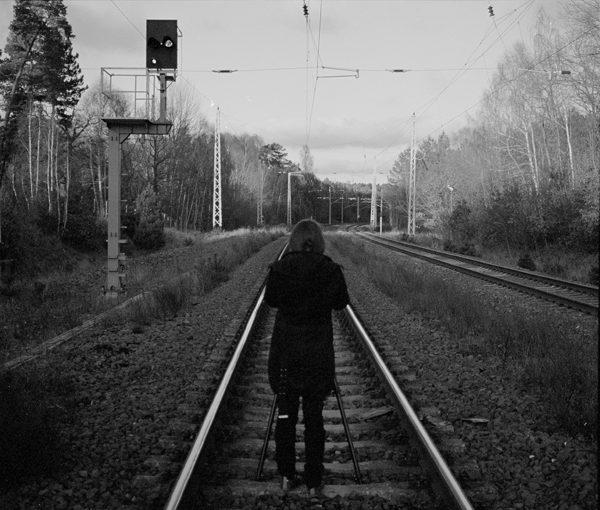 portrait aux rails